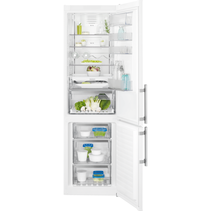 Electrolux Combi 2 m., Twintech, FreshFrostFree con Multiflow, Display LED on door, Cajón NaturaFres